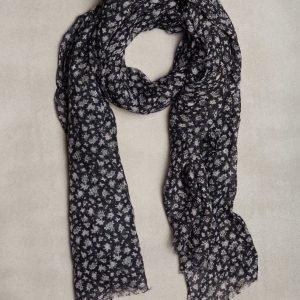 Amanda Christensen Single scarf Linen Kaulahuivi Navy