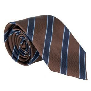 Amanda Christensen Striped Tie 8 cm Brown/Navy/Sky