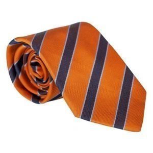 Amanda Christensen Striped Tie 8 cm Orange/Navy/Sky
