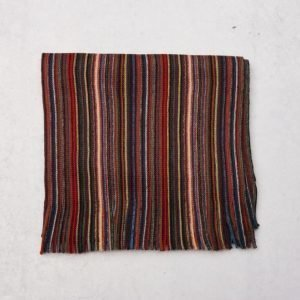 Amanda Christensen Wool Scarf 4 Red Stripe