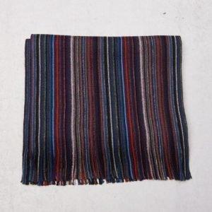 Amanda Christensen Wool Scarf Navy Stripe