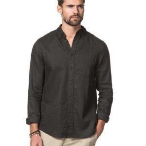 American Vintage AV Linnen Shirt Carbon