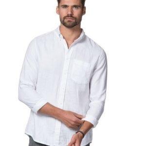 American Vintage AV Linnen Shirt White