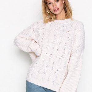 American Vintage Pullover Ml Col Rond Neulepusero Nacre