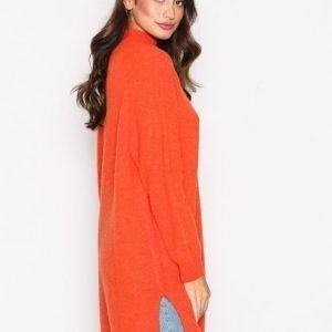 American Vintage Robe Col Montant Neulepusero Oranssi