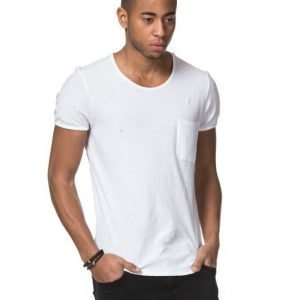 American Vintage Round Neck Pocket Tee White