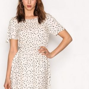 American Vintage Short Printed Dress Skater Mekko Pointille
