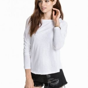 American Vintage Slubby Cotton T-Shirt T-Paita Valkoinen