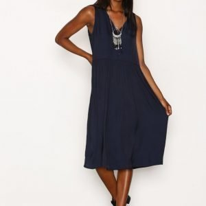 American Vintage V Midi Oversized Dress Loose Fit Mekko Navy