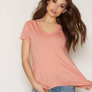 American Vintage V Neck Tee-Shirt T-Paita Rose