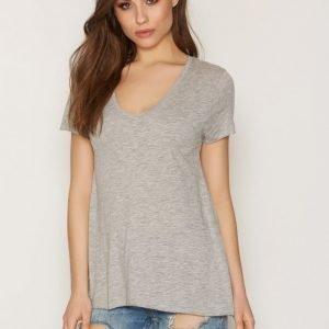 American Vintage V Neck Tee-Shirt T-Paita Shine