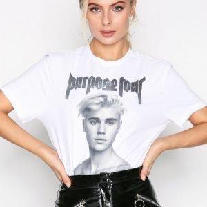 Amplified Shirtless Bieber Tee T-Paita White