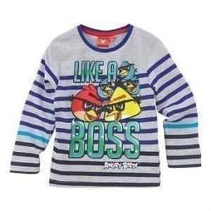 Angry Birds T-paita Mel. vaaleanharmaa Raidallinen
