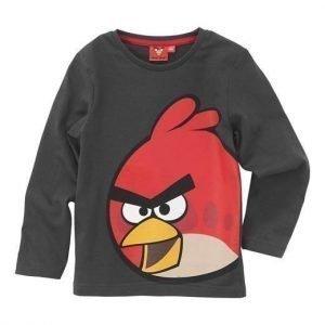 Angry Birds T-paita Tummanharmaa