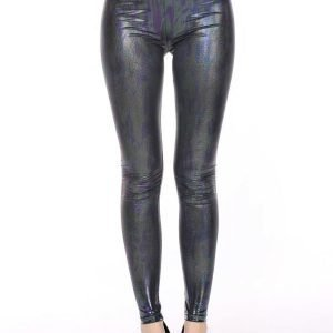 Animal Faux Leather PU-Leather LeggingsTights
