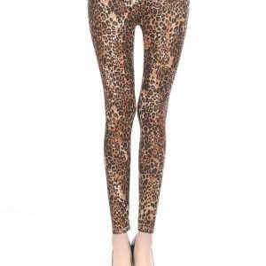 Animal Gold Glitter Leggings Tights