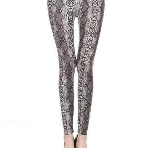 Animal Grey Gold Glitter Leggings Tights