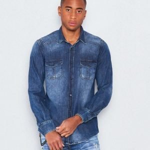 Antony Morato Denim Shirt 7010 Blue Denim