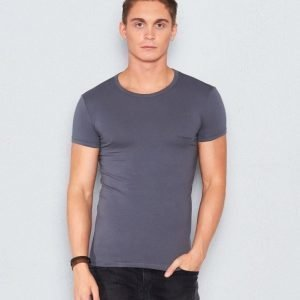 Armani Cotton Stretch Tee Dark Grey