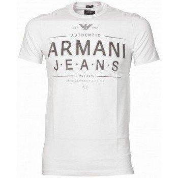 Armani Jeans Tee Shirt U6H10DA Blanc lyhythihainen t-paita