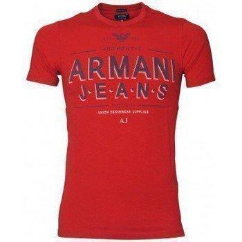Armani Jeans Tee Shirt U6H10DA Rouge lyhythihainen t-paita
