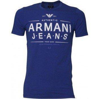 Armani Jeans Tee Shirt U6H10DA bleu dur lyhythihainen t-paita
