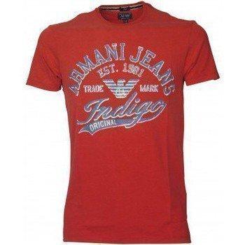 Armani Jeans Tee Shirt U6H14LS Rouge lyhythihainen t-paita