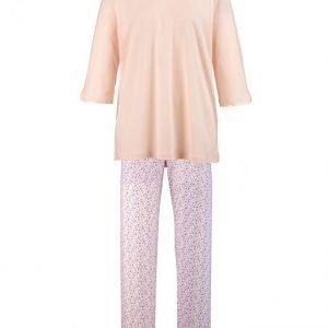 Ascafa Pyjama Aprikoosi / Valkoinen / Luumu