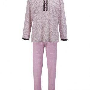 Ascafa Pyjama Ruusupuu / Valkoinen / Musta