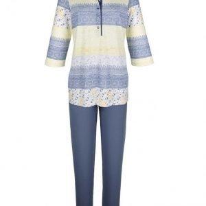 Ascafa Pyjama Sininen / Valkoinen / Vanilja