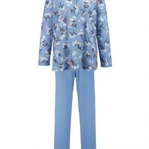 Ascafa Pyjama Vaaleansininen / Ecru / Antrasiitti