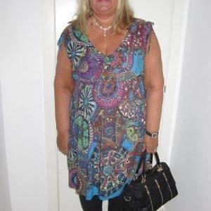 Ashanti sininen mekko (plus size)