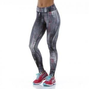 Asics Graphic Tight 28in Treenitrikoot Harmaa / Roosa