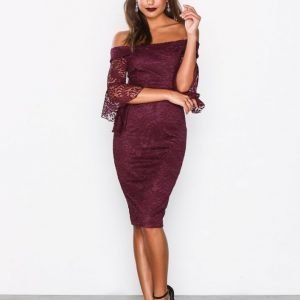 Ax Paris All About The Sleeve Dress Maksimekko Plum
