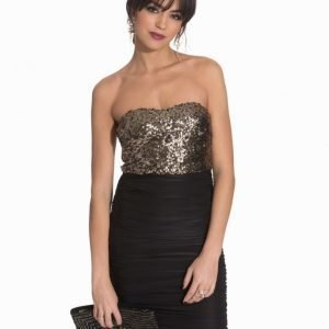 Ax Paris Bandeau Sequin Rouched Dress