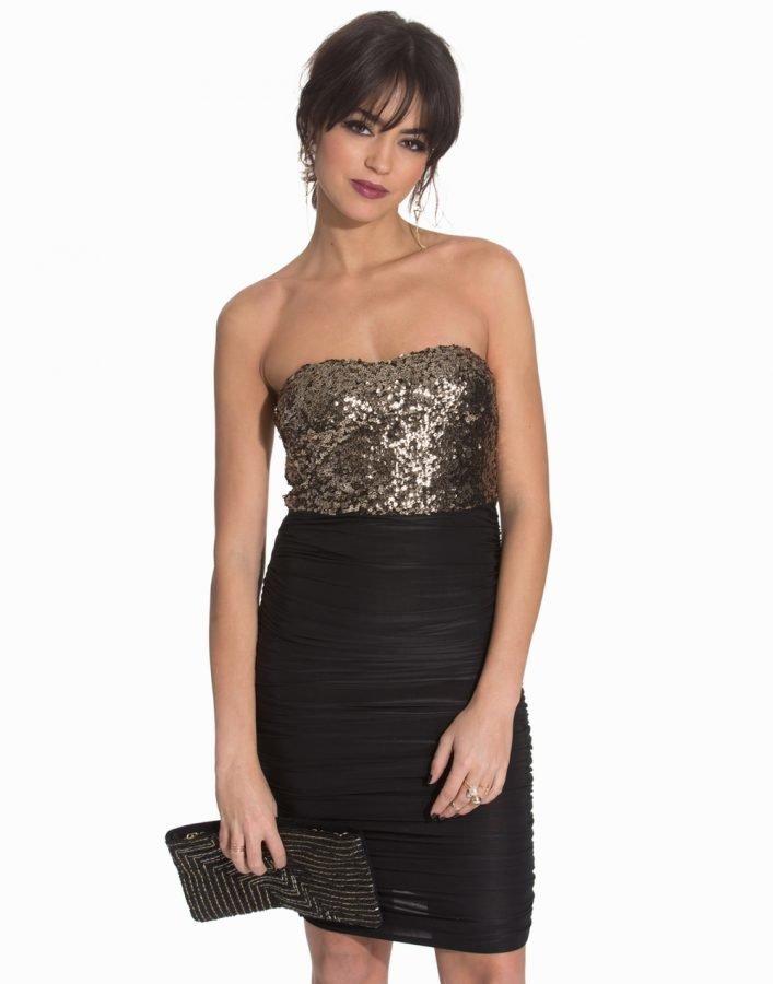 375240cdb5e Ax Paris Bandeau Sequin Rouched Dress - Vaatekauppa24.fi