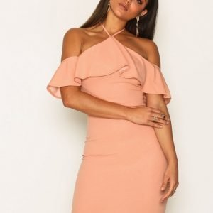 Ax Paris Bardot Frill Dress Kotelomekko Blush