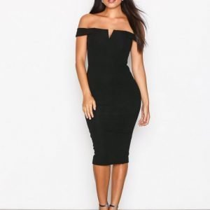 Ax Paris Bardot Midi Dress Kotelomekko Black