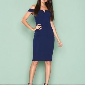 Ax Paris Bardot Midi Dress Kotelomekko Navy
