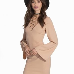 Ax Paris Bell Sleeve Tie Up Dress