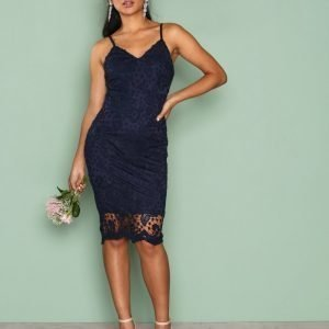 Ax Paris Bodycon Lace Dress Kotelomekko Navy