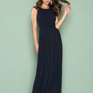Ax Paris Chiffon Maxi Dress Maksimekko Navy
