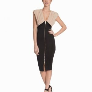 Ax Paris Contrast Zip Bodycon