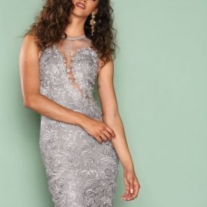 Ax Paris Dreamy Lace Dress Kotelomekko Grey
