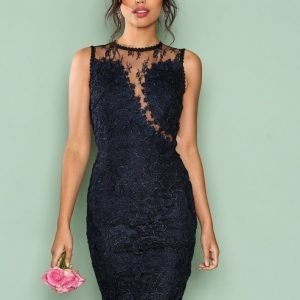 Ax Paris Dreamy Lace Dress Kotelomekko Navy
