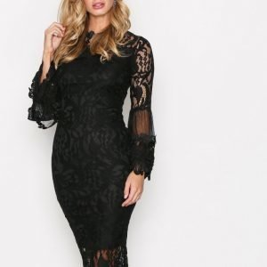 Ax Paris Dreamy Sleeve Lace Dress Kotelomekko Black