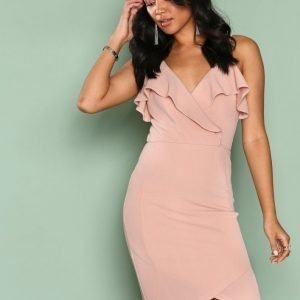 Ax Paris Frill Wrap Dress Kotelomekko Blush