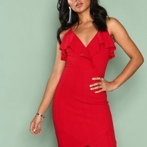 Ax Paris Frill Wrap Dress Kotelomekko Red