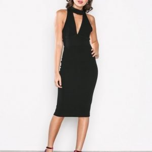 Ax Paris Keyhole Bodycon Dress Kotelomekko Black