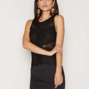 Ax Paris Lace Bust Mini Bodycon Dress Kotelomekko Black